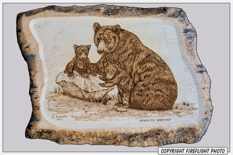 Black Bear Pyrography Full Image